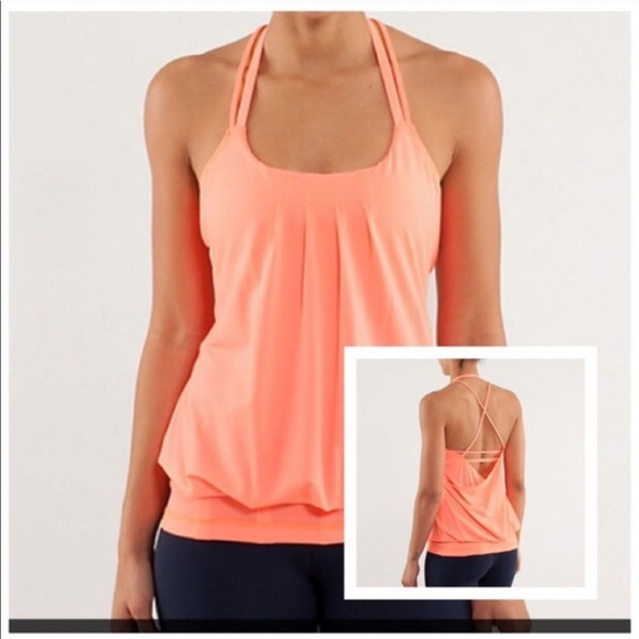 Lululemon Coral Flow and Go II Strappy Tank Top